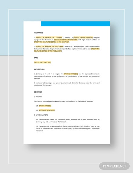 Freelance Design Contract Template Word Doc Google Docs Apple Mac Apple Mac Pages Template Net,Simple Small House Low Budget Ceiling Design For Living Room