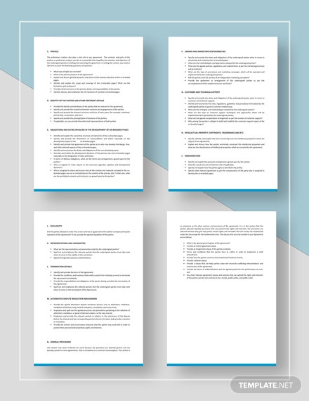 CoBranding Agreement Checklist Template