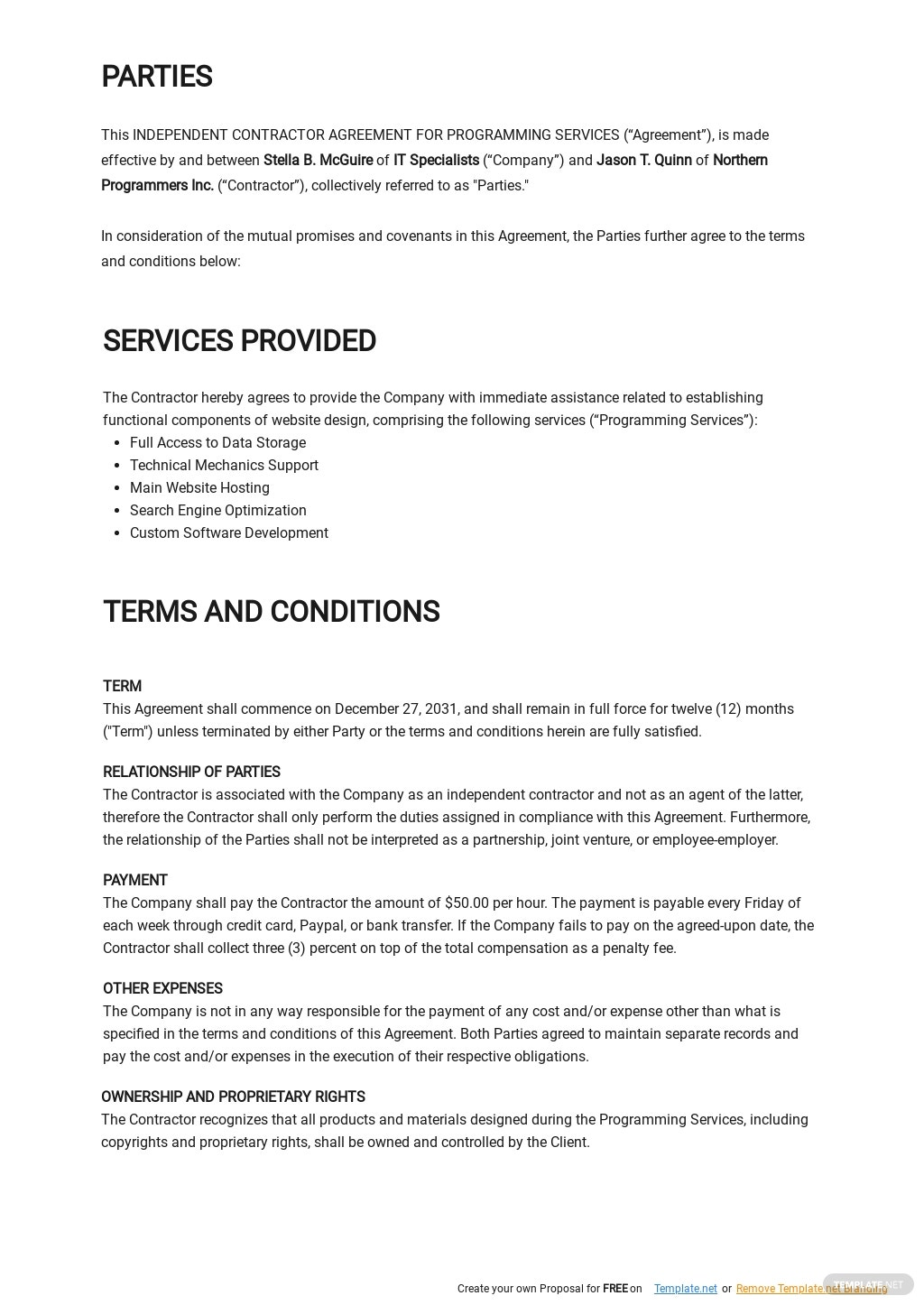 Independent Contractor Agreement For Programming Services Template 1.jpe