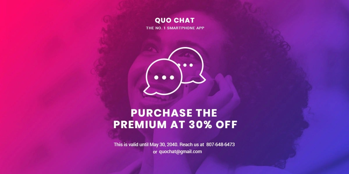 Chat App Promotion Blog Post Template