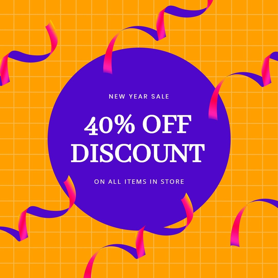 Holiday Discount Sale Instagram Post Template