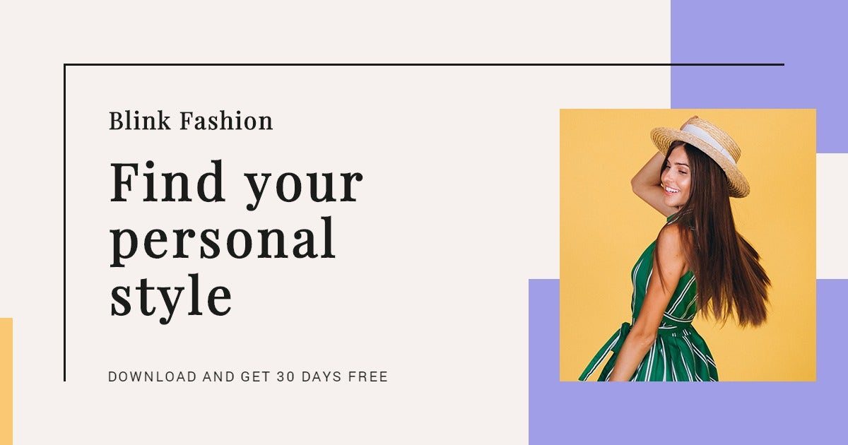 Fashion Brands App Promotion Facebook Post Template