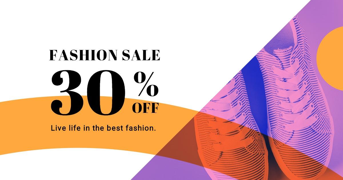 Elegant Fashion Sale Facebook Post Template