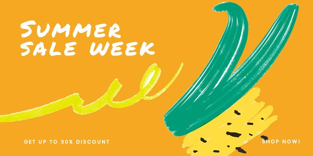 Summer Sale Twitter Post Template