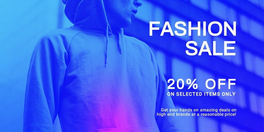 Fashion Sale Discounts Twitter Post Template