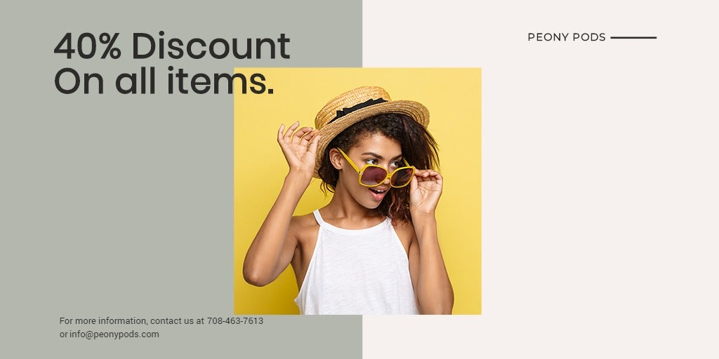 Trendy Fashion Sale Twitter Post Template