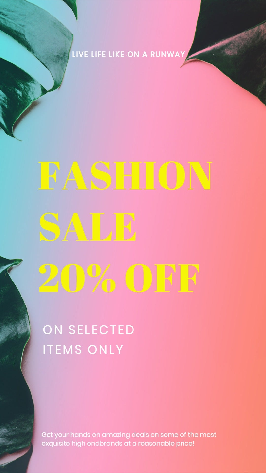 Basic Fashion Sale Instagram Story Template