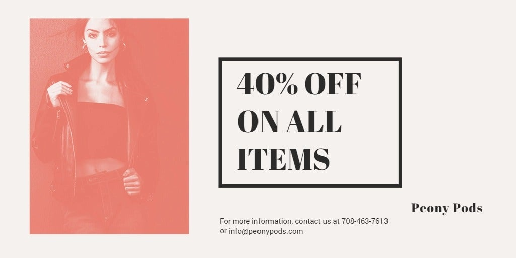 Fashion Sale Expo Twitter Post Template