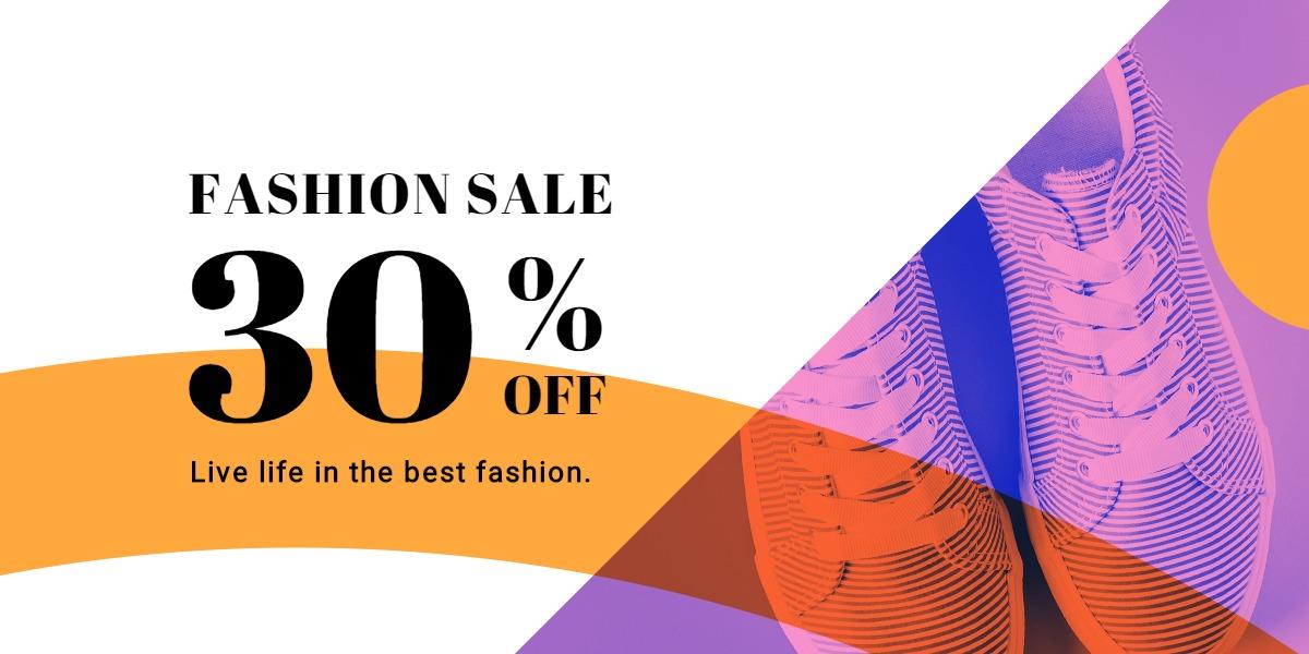 Elegant Fashion Sale Blog Post Template