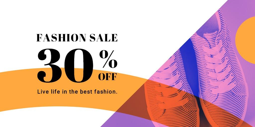Elegant Fashion Sale Twitter Post Template