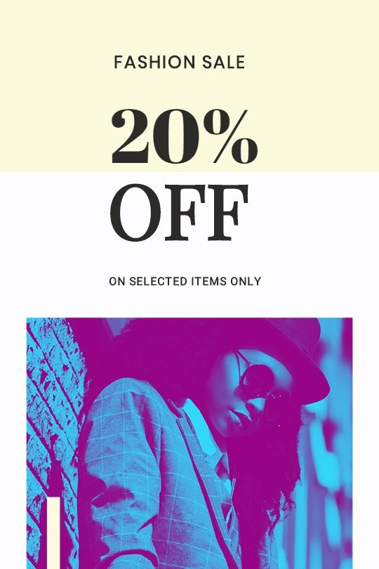 Fashion Clearance Sale Tumblr Post Template