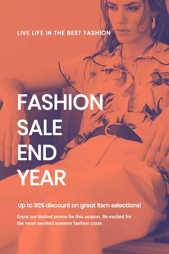 Minimalistic Fashion Sale Tumblr Post Template
