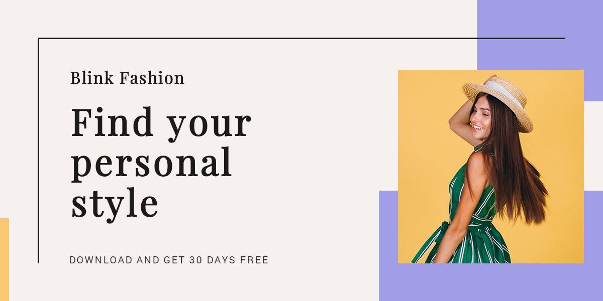 Fashion Brands App Promotion Blog Post Template