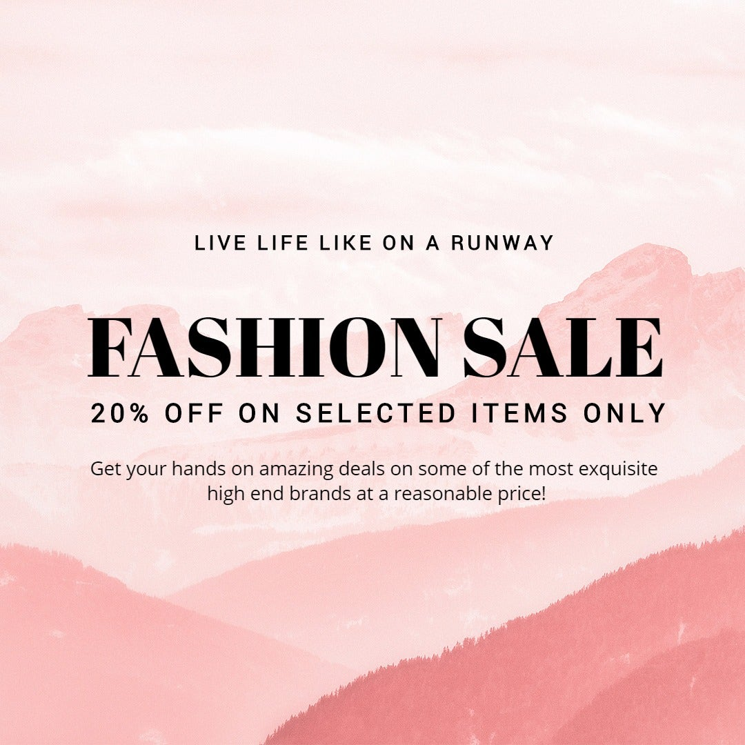 Blank Fashion Sale Instagram Post Template