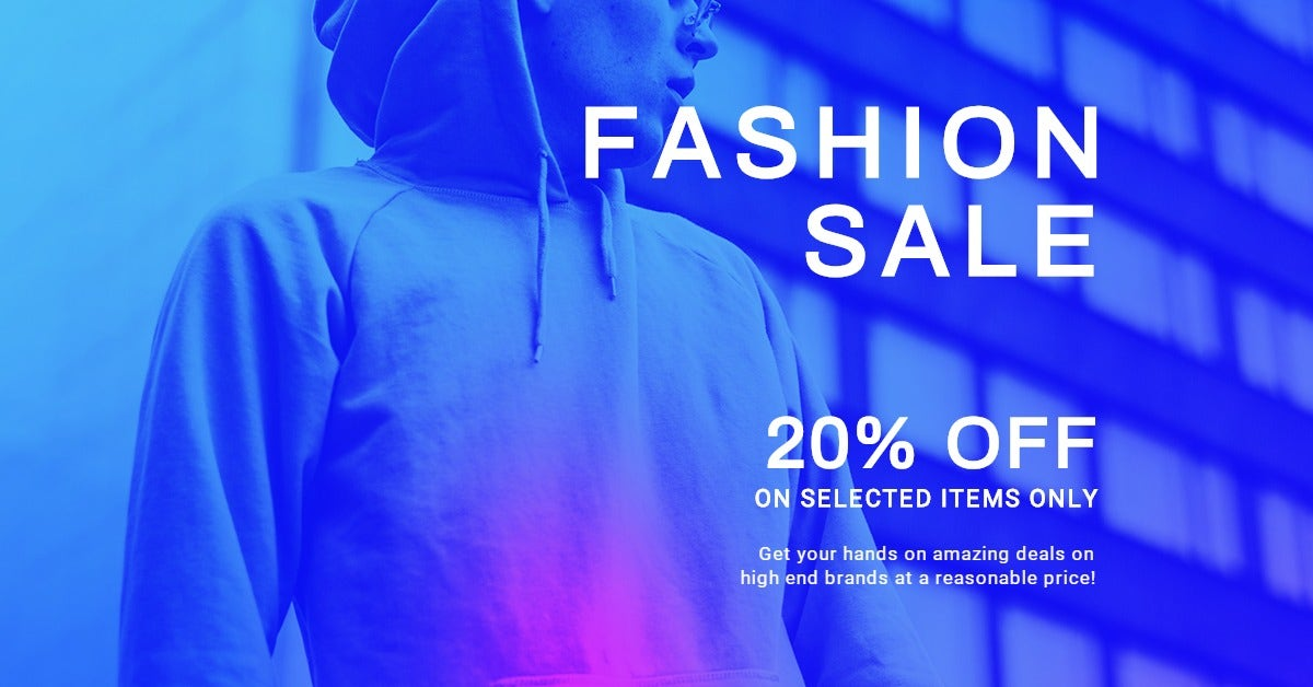 Fashion Sale Discounts LinkedIn Post Template