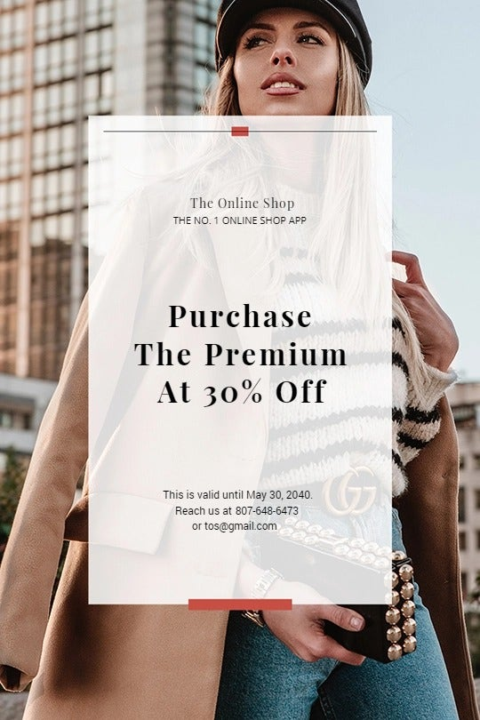 Online Shop App Promotion Tumblr Post Template