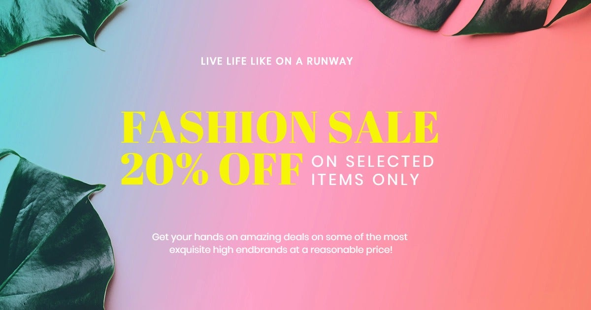 Basic Fashion Sale Facebook Post Template