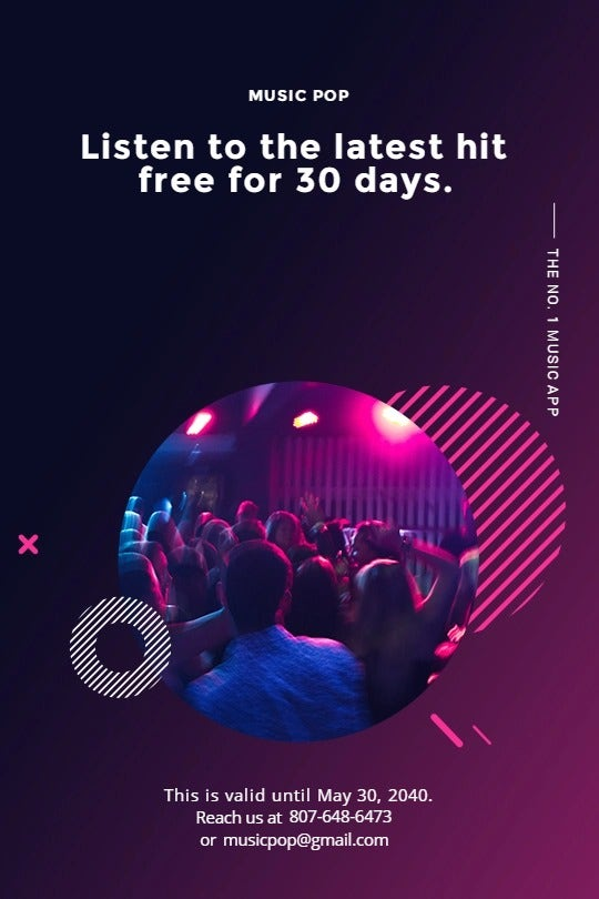 Modern Music App Promotion Tumblr Post Template
