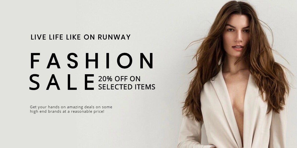 Grand Fashion Sale Blog Post Template