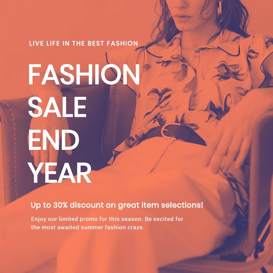 Minimalistic Fashion Sale Instagram Post Template