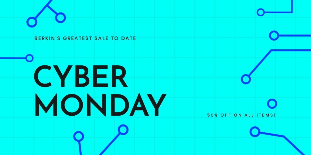 Editable Cyber Monday Sale Twitter Post Template