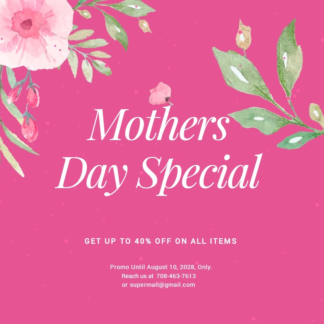 Mothers Day Special Sale Instagram Post Template