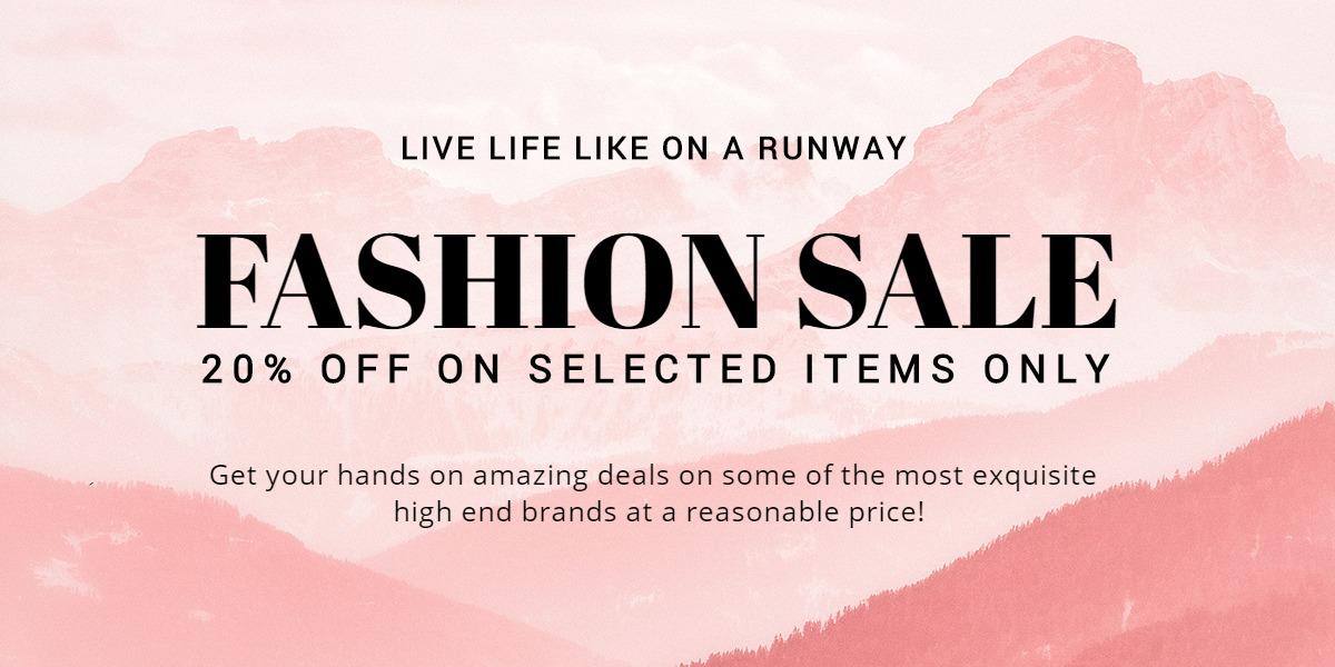 Blank Fashion Sale  Blog Post Template