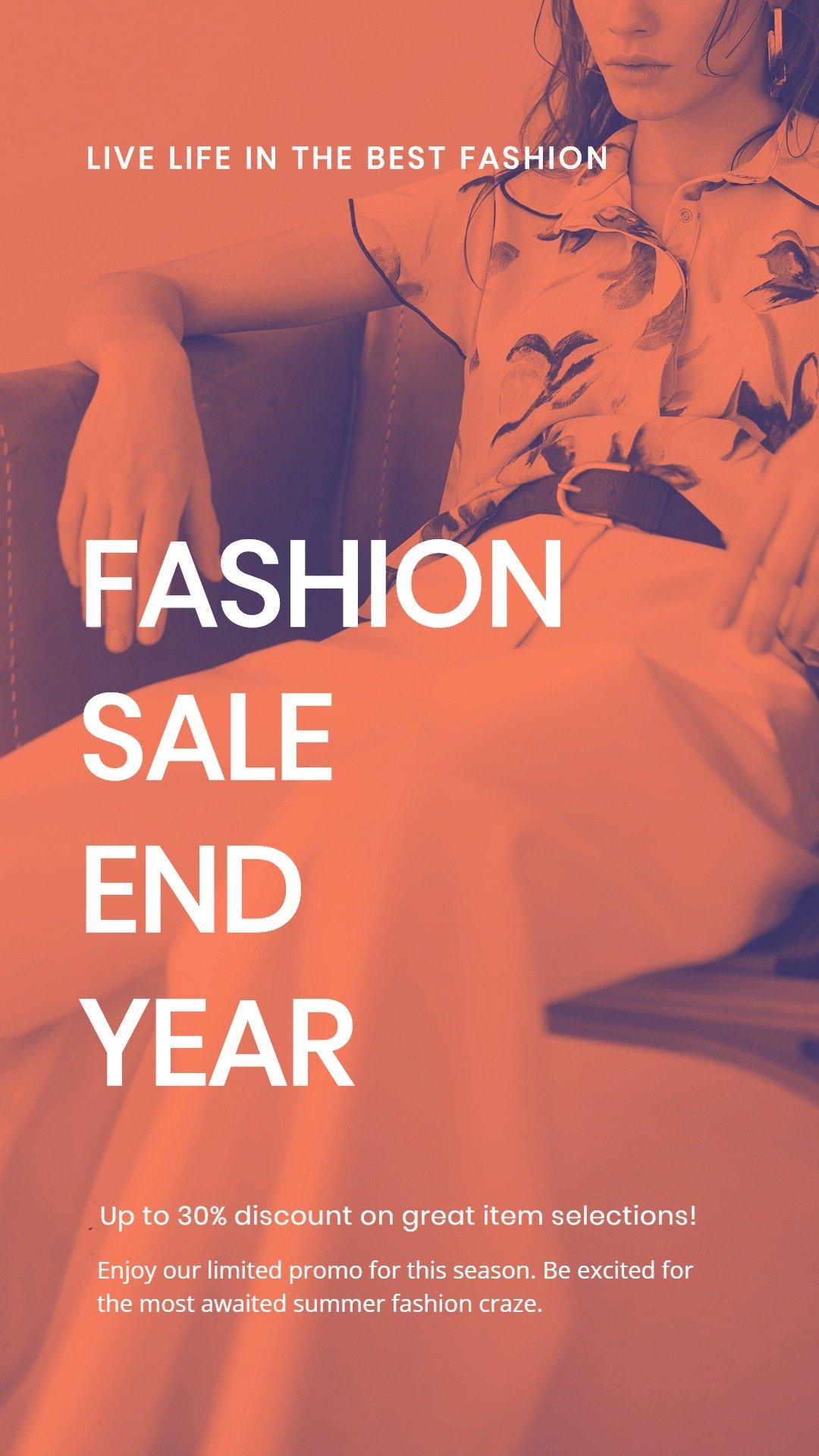 Minimalistic Fashion Sale Whatsapp Post Template