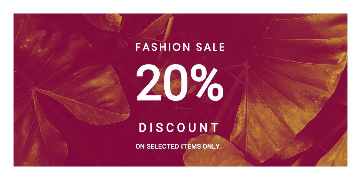 Editable Fashion Sale Blog Post Template