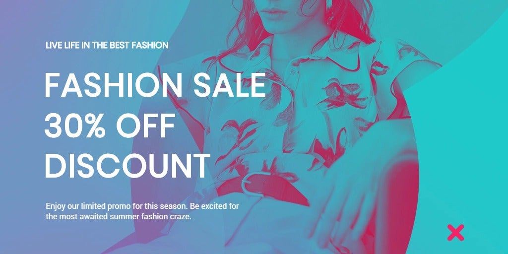 Fashion Products Sale Twitter Post Template