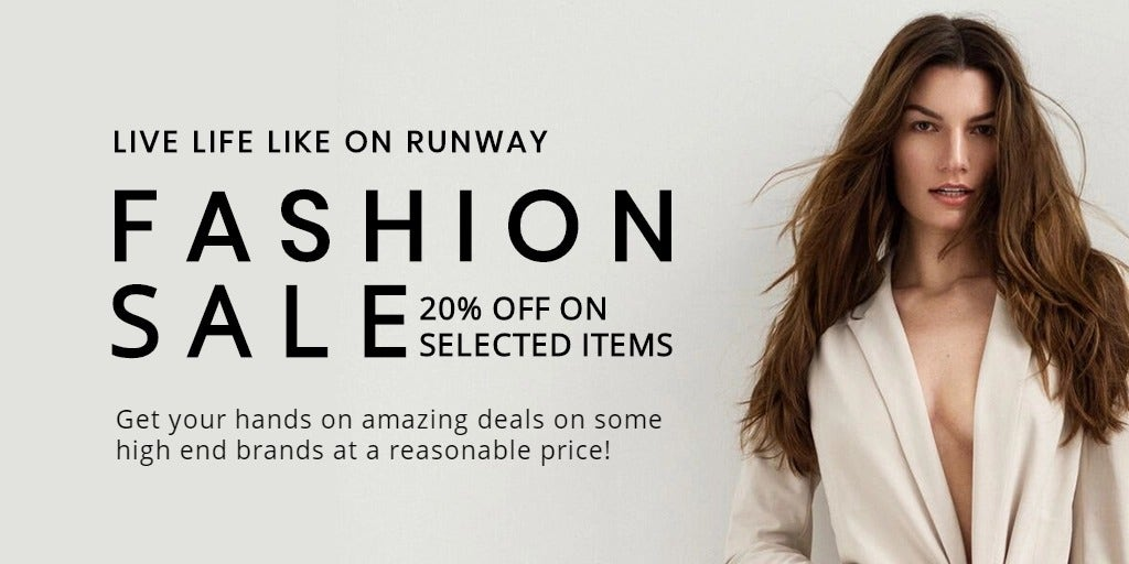Grand Fashion Sale Twitter Post Template
