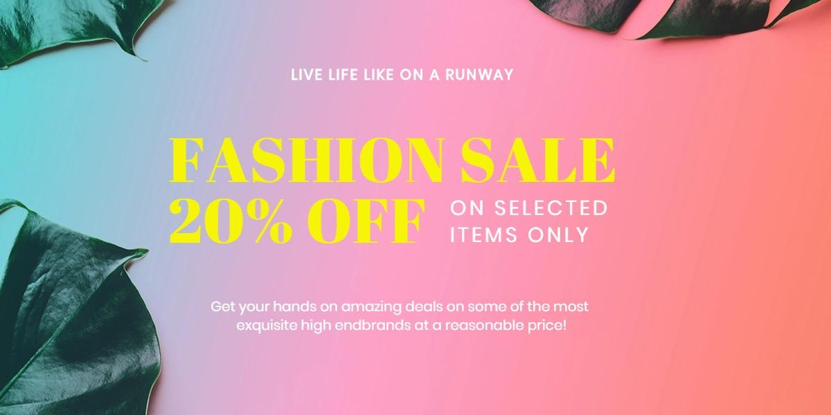 Basic Fashion Sale Blog Post Template