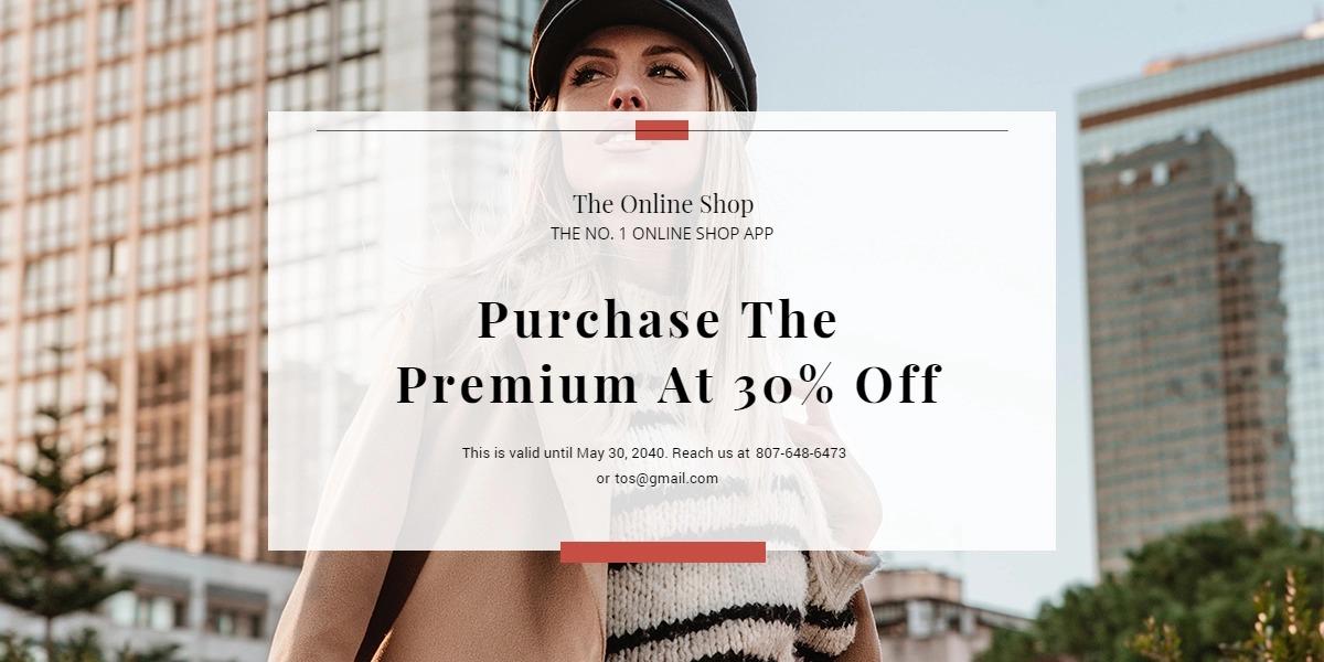 Online Shop App Promotion Blog Post Template