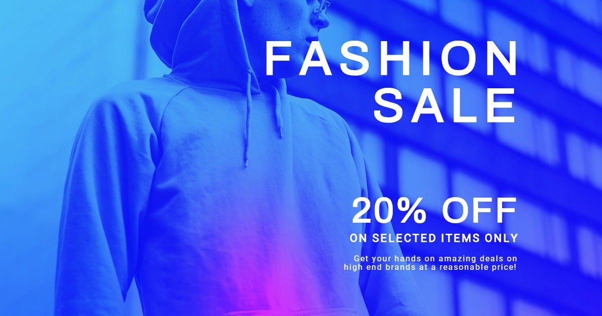 Fashion Sale Discounts Facebook Post Template