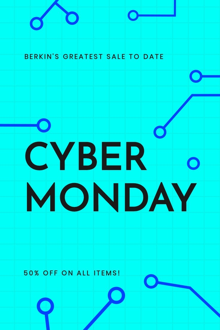 Editable Cyber Monday Sale Pinterest Pin Template
