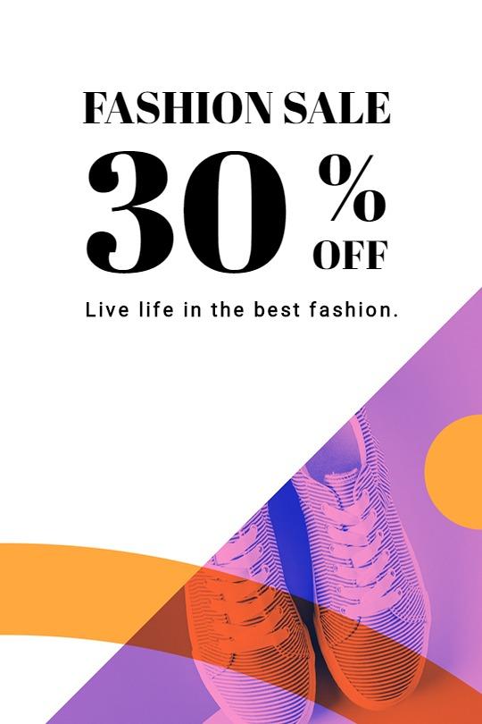 Elegant Fashion Sale Tumblr Post Template
