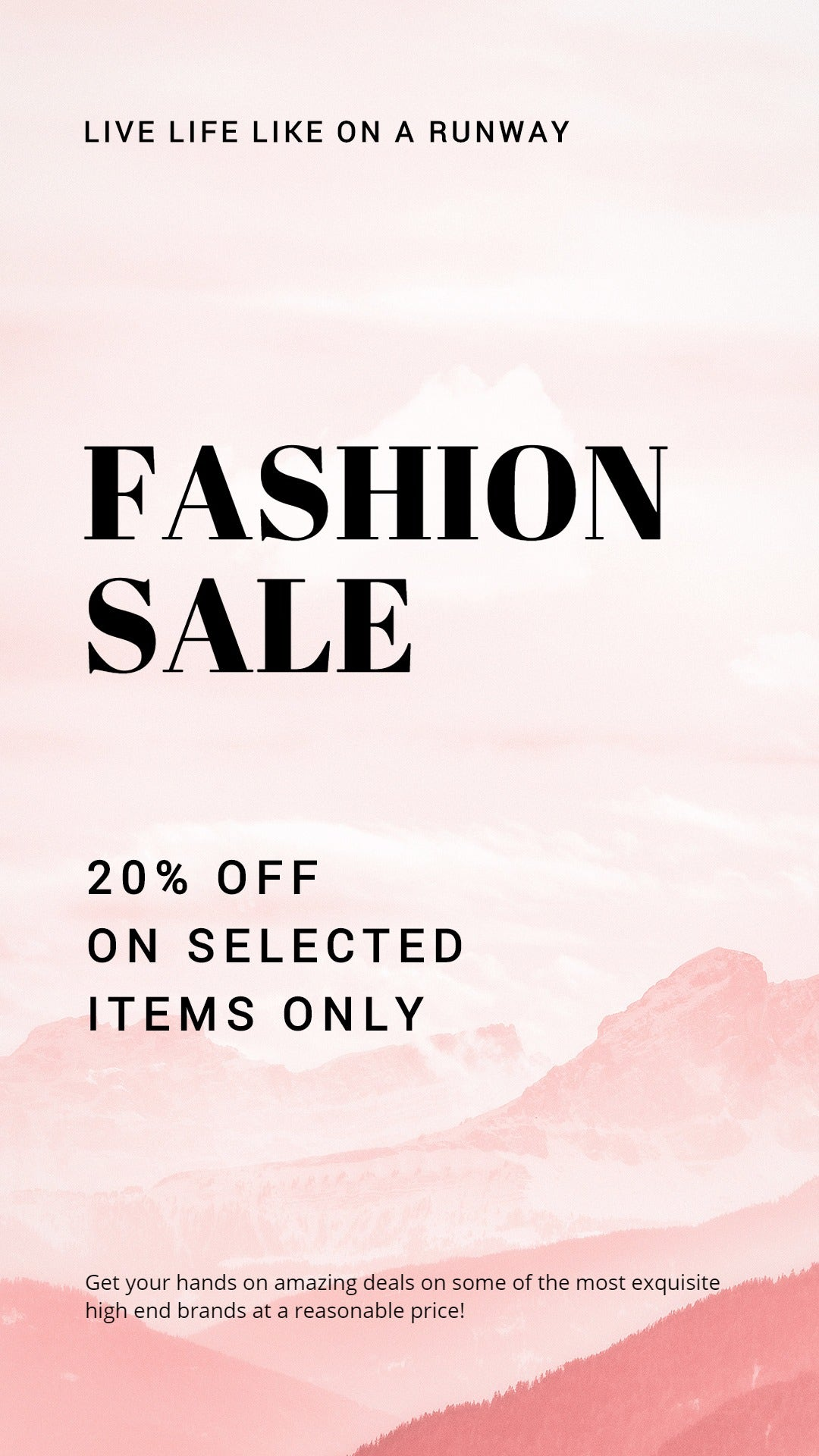 Blank Fashion Sale Instagram Story Template