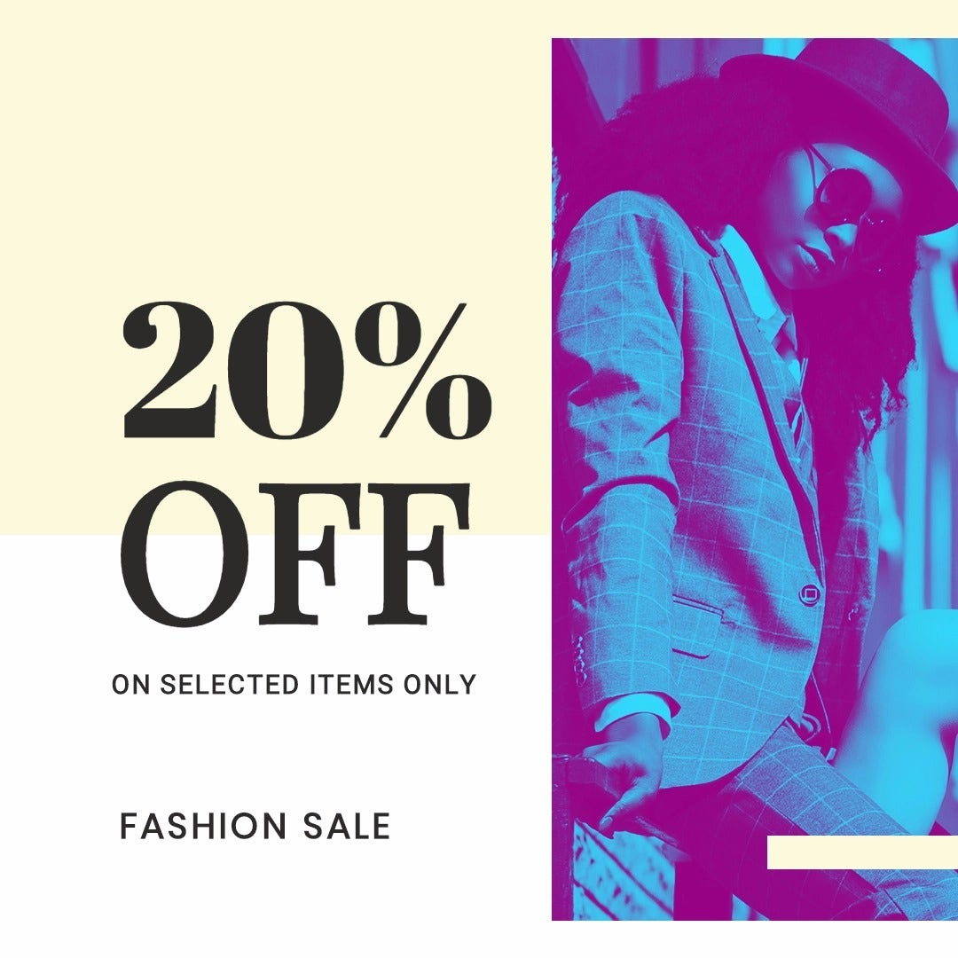 Fashion Clearance Sale Instagram Post Template