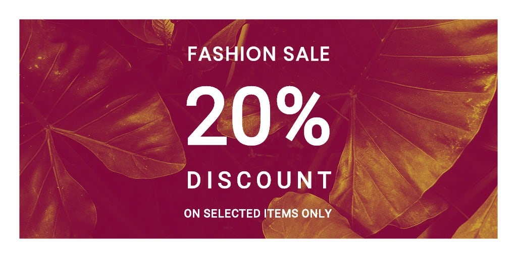 Editable Fashion Sale Twitter Post Template