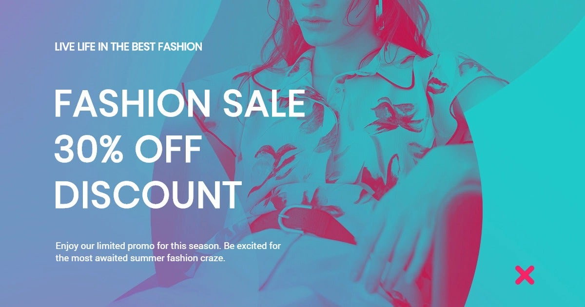 Fashion Products Sale Facebook Post Template