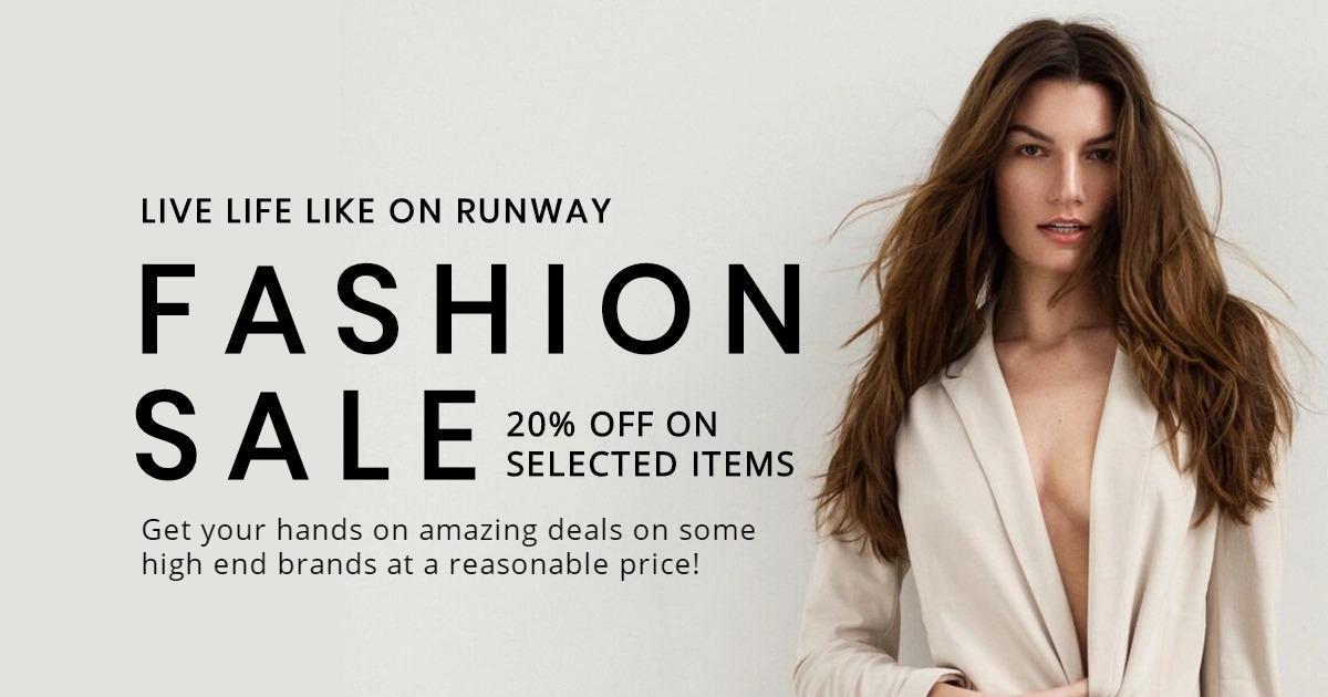 Grand Fashion Sale Facebook Post Template