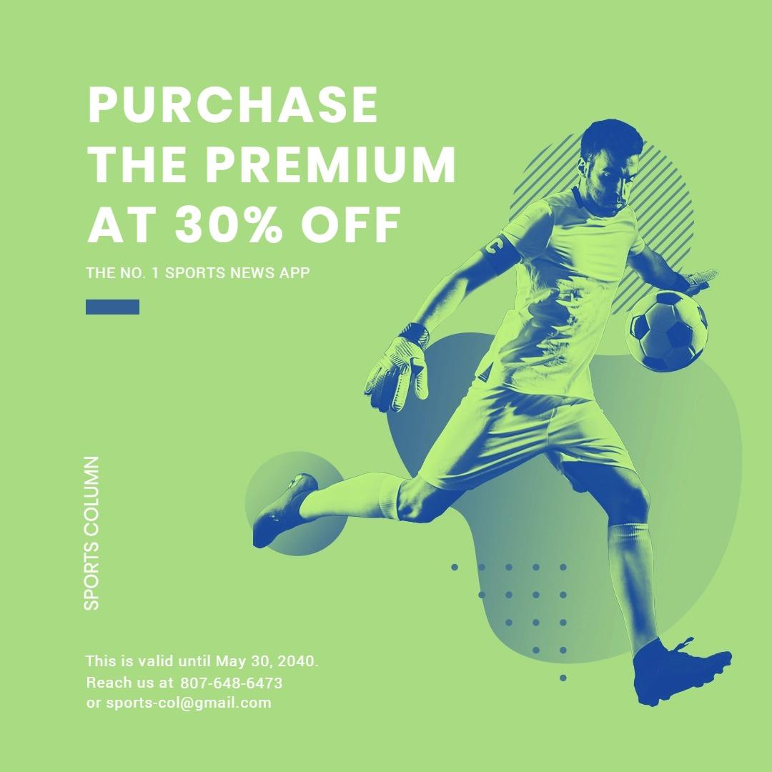 Sports App Promotion Instagram Post Template