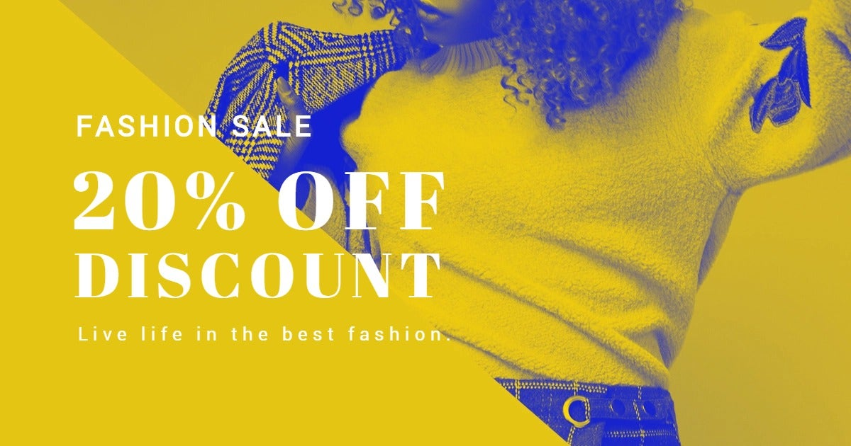 Creative Fashion Sale Facebook Post Template