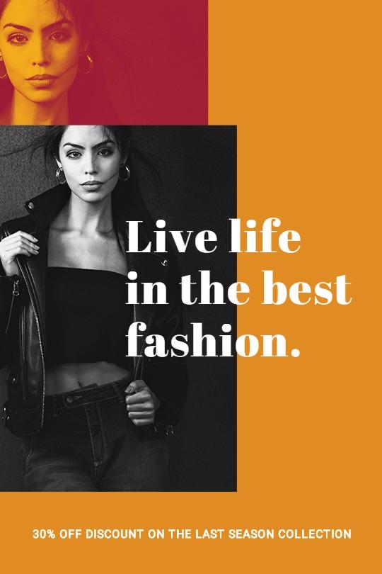 Clean Fashion Sale Tumblr Post Template