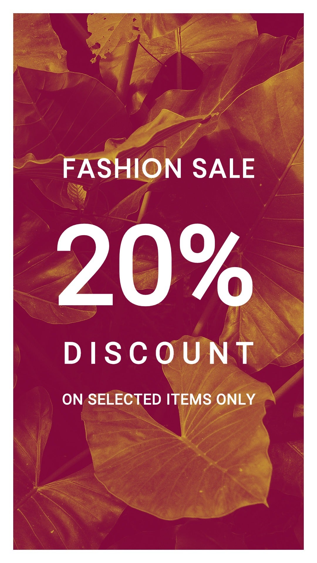 Editable Fashion Sale Whatsapp Image Template