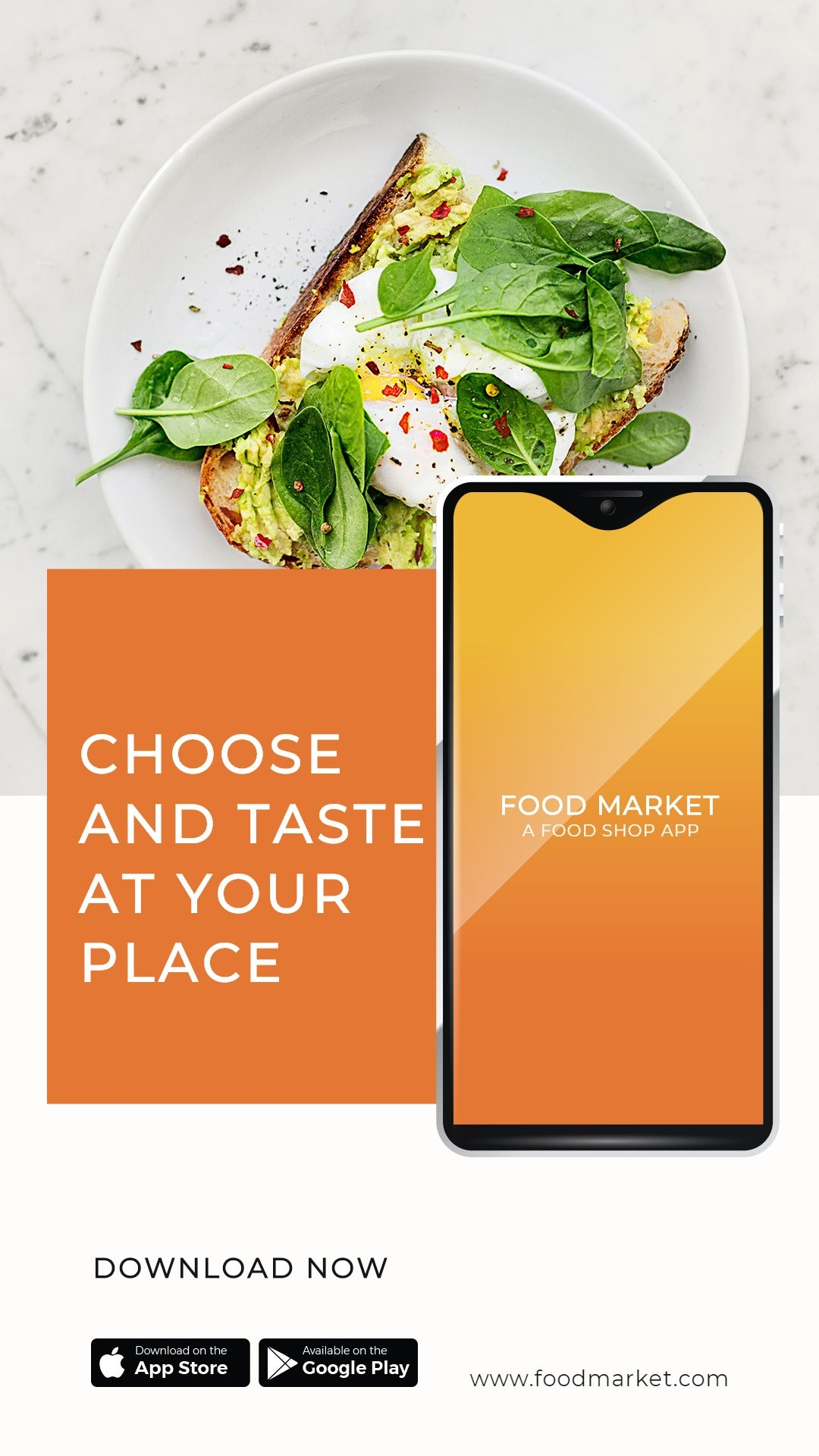 Food Mobile App Promotion Whatsapp Post Template