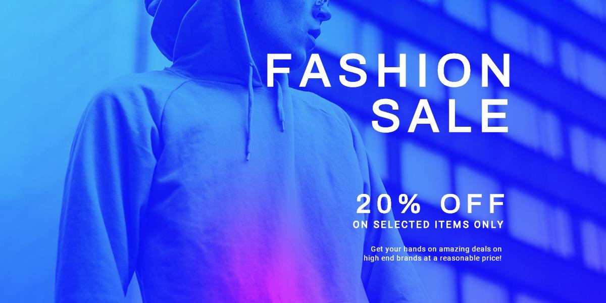 Fashion Sale Discounts Blog Post Template