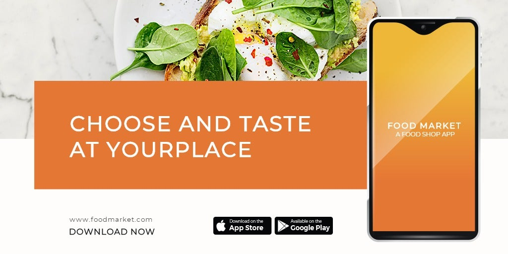 Food Mobile App Promotion Twitter Post Template