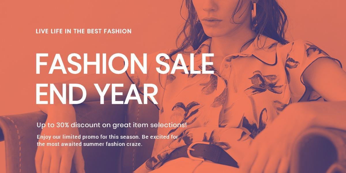 Minimalistic Fashion Sale Blog Post Template