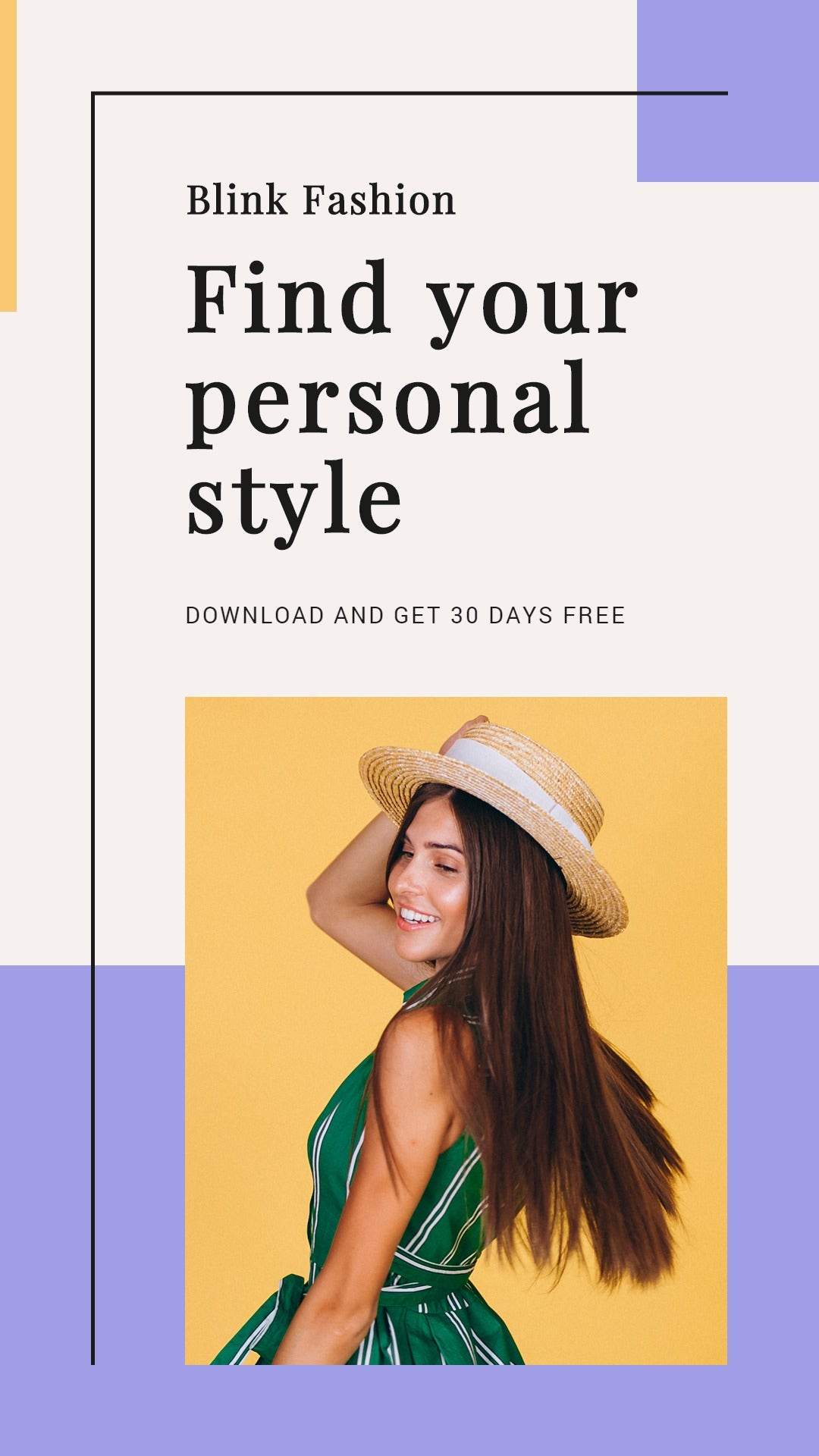 Fashion Brands App Promotion Whatsapp Post Template